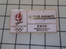 415a Pin's Pins / Beau Et Rare / THEME : JEUX OLYMPIQUES / ALBERTVILLE 92 CNDB LE BOIS AVANCE - Juegos Olímpicos