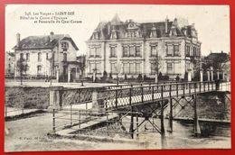 Cpa 88 SAINT DIE  Caisse D'Epargne Passerelle Du Quai Carnot - Saint Die