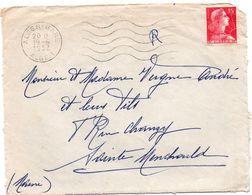 Alger-gare 1957 Flamme Sur Muller - !!! Devant De Lettre Seul - Algeria (1924-1962)