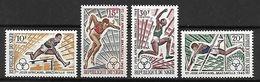 NIGER   -  1965.  Y&T N°165 à 168  **. Jeux Sportifs De Brazzaville. /  Athlétisme - Niger (1960-...)