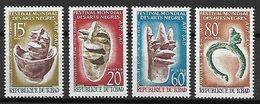TCHAD   -   1966  . Y&T N°119 à 122  **.   Festival Des Arts Négres.  Art Sao.  Série Complète. - Chad (1960-...)