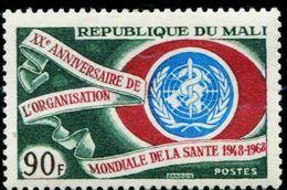AP1820 Mali 1968 WHO 20 Years 1V MLH - Salute