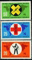 AP1824 Malaria 1963 East Germany 3V - Salute