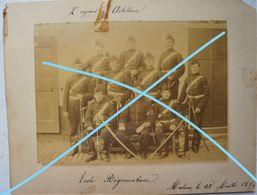 Photo ABL MECHELEN 2èm Régiment Artillerie 1893 Ecole Régimentaire Uniforme Sabre Sword  Canon Artillery Belgische Leger - Photos