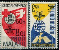 AP1826 Czechoslovakia 1962 Prevention Of Malaria 2V - Salute