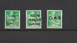 Algerie Surcharge OAS , Algerie Française 1961 , Neuf** Et Oblitéré - Algeria (1962-...)