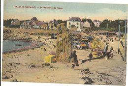 44 -    BATZ - Le Menhir Et La Plage  168 - Batz-sur-Mer (Bourg De B.)