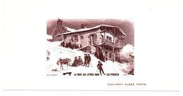 La Poste Aux Lettres Dans Les Pyrénées - Feuillet Sans Valeur - Document Musée Postal 14 X 7 Cm - Blocs & Feuillets