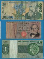 LOT BILLETS 3 BANKNOTES ROMANIA ITALY BRASIL - Monedas & Billetes
