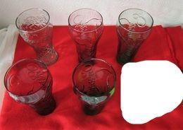 6 Verres Coca Cola Années 90 état Neuf - Glasses