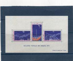 Eclipse Totale De Soleil 1973  ( Feuillet Luxe Avec 3 Valeurs De La Rép / Islamique De Mauritanie - Timbres