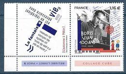 Boris Vian 1.16 € Avec Vignette Du Bloc (2020) Neuf** - France