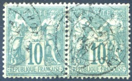 France N°65 Paire (type Sage)  - Cote 60€ - (F1687) - 1876-1878 Sage (Typ I)