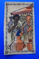 Thème Ethnique & Cultures Afrique Carte Postale Humoristique Peinte A La Main  A Identifier ? - Africa