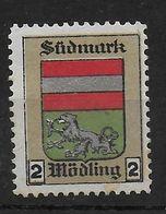 Österreich Südmark Mödling Spendenmarke Cinderella Vignet Werbemarke Propaganda - Fantasy Labels