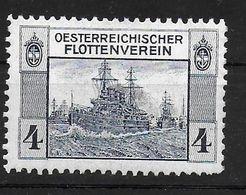 Österreich Flottenverein Spendenmarke Cinderella Vignet Werbemarke Propaganda - Fantasy Labels