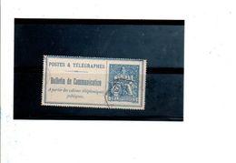 BULLETIN DE COMMUNICATION 25 CTS - Telegramas Y Teléfonos