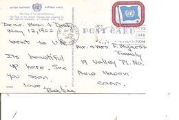 NationsUnies -New-York -Drapeaux ( CP De 1962 De New-york  Vers Newhaven à Voir) - New-York - Siège De L'ONU