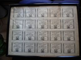 PLANCHE COMPLETE De 20 ASSIGNATS De 10 SOUS  Serie 560  Signe  GUYON - Assegnati