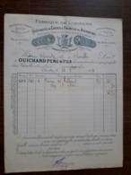 L24/183 Ancienne Facture. Charolles. Fabrique De Liqueurs . Guichard Pére Et Fils. 1894 - 1800 – 1899
