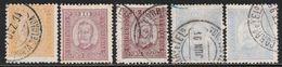 PONTA DELGADA - 5 Timbres Obl (1892) Carlos 1er - Ponta Delgada