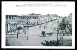 MANAUS - Etat Se L'Amazone -Avenue Eduardo Ribeiro.( Ed. Mission Brèsilienne De Propagande)  Carte Postale - Manaus