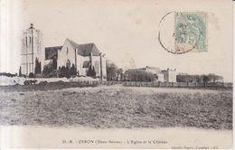 Oiron L'Eglise Et Le Chateau    1905 - Bressuire