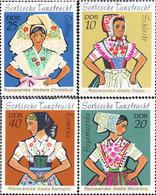 Ref. 150709 * MNH * - GERMAN DEMOCRATIC REPUBLIC. 1971. TYPICAL COSTUMES . TRAJES TIPICOS - Textile