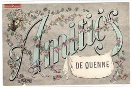 QUENNE (89) - Carte Fantaisie - Amitiés De Quenne - FLEURS - Sans éditeur - Francia