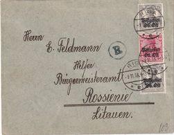 ALLEMAGNE 1918 POSTGEBIET OST LETTRE DE RIGA - Occupation 1914-18