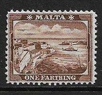 MALTA 1905 ¼d RED-BROWN SG 45 WATERMARK MULTIPLE CROWN CA LIGHTLY MOUNTED MINT Cat £9 - Malta