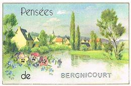08 PENSEES  DE   BERGNICOURT  CPM  TBE  128 - Andere Gemeenten