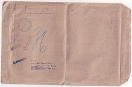 ALLEMAGNE 1942 POSTGEBIET OST LETTRE TAXEE DE ABREHNEN POUR ASCHAFFENBURG - Besetzungen 1938-45