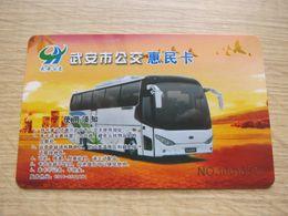 China Wu An City Bus Card - Phonecards