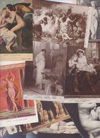 Lot 2454 De 10 CPA Nude Nu Féminin Femmes Nues Tableaux Sculpture Déstockage Pour Revendeurs Ou Collectionneurs - Cartes Postales