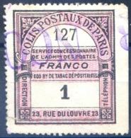 France - Colis Postaux De Paris - (F1705) - Parcel Post