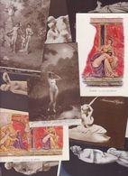 Lot 2455 De 10 CPA Nude Nu Féminin Femmes Nues Tableaux Sculpture Déstockage Pour Revendeurs Ou Collectionneurs - Cartes Postales