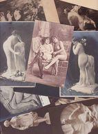 Lot 2458 De 10 CPA Nude Nu Féminin Femmes Nues Tableaux Sculpture Déstockage Pour Revendeurs Ou Collectionneurs - Cartes Postales