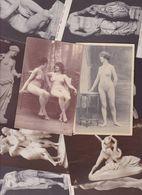 Lot 2459 De 10 CPA Nude Nu Féminin Femmes Nues Tableaux Sculpture Déstockage Pour Revendeurs Ou Collectionneurs - Cartes Postales