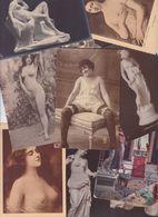 Lot 2460 De 10 CPA Nude Nu Féminin Femmes Nues Tableaux Sculpture Déstockage Pour Revendeurs Ou Collectionneurs - Cartes Postales