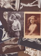 Lot 2461 De 10 CPA Nude Nu Féminin Femmes Nues Tableaux Sculpture Déstockage Pour Revendeurs Ou Collectionneurs - Cartes Postales