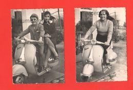 Vespa Piaggio Scooter 2 Foto Anni '60 - Coches