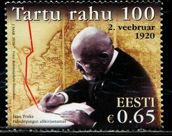 XB0950 Estonia 2020 Soviet-Israeli Peace Treaty Signed A 100-year Map, Etc. - Estland