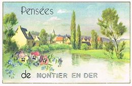 52 PENSEES    DE   MONTIER  EN  DER   CPM  TBE  105 - Montier-en-Der