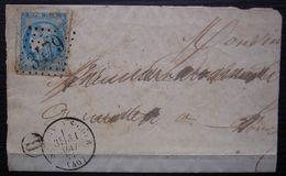 Saint Aignan Sur Cher Mai 1871 GC 3479 Sur Cérès émission De Bordeaux, Lettre Incomplète Avec Boîte Rurale H - 1849-1876: Klassik