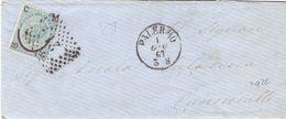 1867 Letterina Con Ferro Di Cavallo  Da Palermo Per Canicatti Annullo Num. 21- Q - Marcofilía
