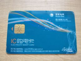 China State Grid Electricity Chip Card,corner Damaged - Phonecards