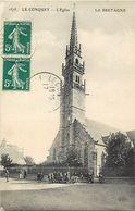 - Finistère - Ref-E581- Le Conquet - L Eglise - Enfants - Edit. Eld -n° 1575 - Série La Bretagne - - Le Conquet