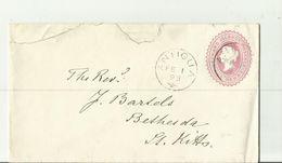 ANTTIGUA 1893 NACH ST KITTS - 1858-1960 Crown Colony