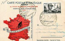 CPA Tour De France Cycliste 1948 * Cyclisme Vélo * Cpa Illustrée * Cachets - Cycling